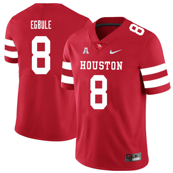2018 Men #8 Emeke Egbule Houston Cougars College Football Jerseys Sale-Red